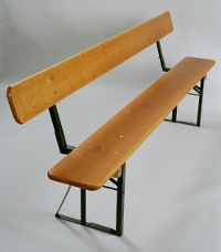 Beer bench with backrest