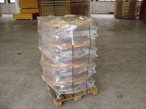 Packaging of garden tables